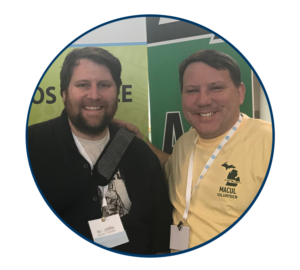 Daniel Mares and Dean Meyer at the MACUL conference